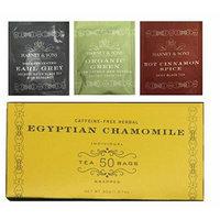 Harney & Sons Egyptian Herbal Chamomile 50 Tea Bags (With Bonus 1 Green Citrus Ginkgo,1 Decaff Earl Grey,1 Cinnamon Spice) Total of 53 Tea Bags