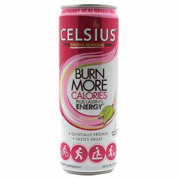 Celsius Raspberry Acai Green Tea 12 oz 12 ct - CELSNONC0012GREELQ
