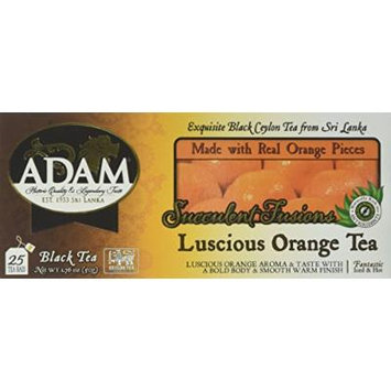 Adam Tea, Luscious Orange, 100 Count