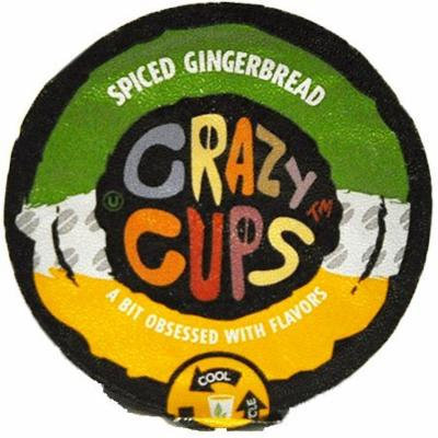 Crazy Cups Spiced Gingerbread Flavored Coffee Single Serve Cups