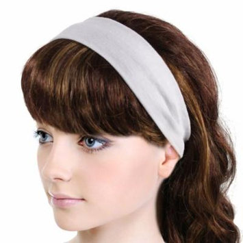 Simple Solid Color Stretch Headband - White (3 Pcs)