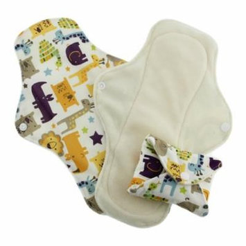 Pink Daisy Organic Cotton Washable Feminine Menstrual Pads - 3 Pack (Small, Jungle Jam)
