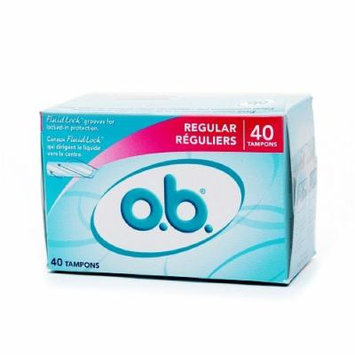 o.b. Non-Applicator Tampons, Value Pack, Regular 40 ea