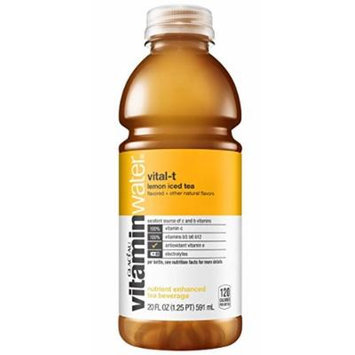 Vitamin Water Vital-t Lemon Iced Tea 20 Oz Bottles - Pack of 24