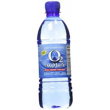 O2 Aqua Oxygenated Purified Water, 16.9 Fl oz (Pack of 12)
