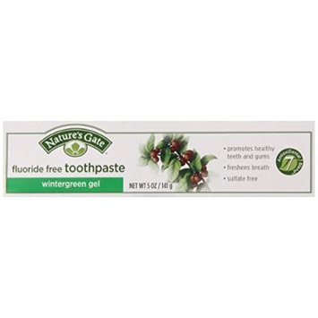 Nature'S Gate Toothpaste without Fluoride, Wintergreen Gel, 4 Count