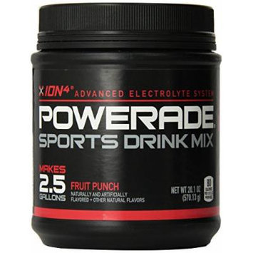 Powerade Sports Drink Mix Fruit Punch Sports Drink Powder Mix 20.1oz Makes 2.5 Gallons