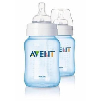 Philips Avent Limited Edition Blue Baby Baby Bottles 2 Pack 260ml New Scf685/27