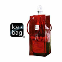 Ice Bag Is Portable and Folds for easy Storage - Red, Set of 3