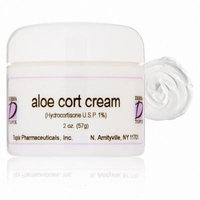 Topix Aloe Cort Cream (Hydrocortisone USP, 1%) - 2 oz Jar