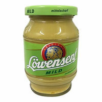 Loewensenf Medium / Mild / Mittelscharf Glas Jar of 250 ml / 8,45 Oz