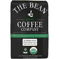 The Bean Coffee Company, El Grano Suave (Columbian Excelso) Organic Whole Bean Coffee, 5-Pound Bags