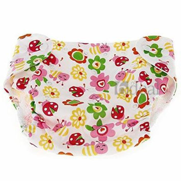 Baby Infant Diaper Nappy Cover Breathable Reusable Flowers + Insects