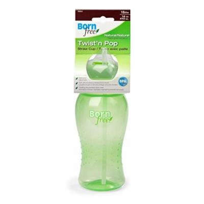 1 Bornfree 14 Oz Twist 'N Pop Straw Cup, New, BPA Free, 4 Colors Available Green