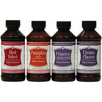 Lorann Oils Bakery Emulsion Bundle, Red Velvet Princess Cake Cream Cheese Pumpkin, 4 Fluid Ounce
