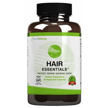 Hair Essentials Natural Hair Growth Supplement for Women and Men, 180 Count