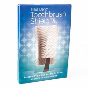 Intellident Antimicrobial Toothbrush Shields 10ct Pack of 5
