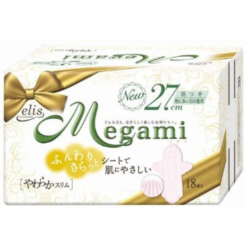 Elis Megami Soft Slim for Very Heavy Days, 18 Pads with Wings