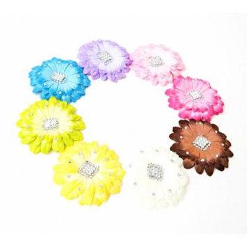 Ema Jane - Gerber Daisy Jewel Flower Hair Clips (8 Pack)