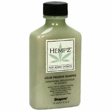 Hempz Pure Herbal Extracts Color Preserve Shampoo, 2.5 fl oz (75 ml)