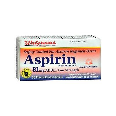 Walgreens Aspirin 81 mg Low Dose Tablets, 36 ea