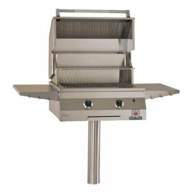 Solaire 27-Inch Deluxe InfraVection Propane In-Ground Post Grill, Stainless Steel
