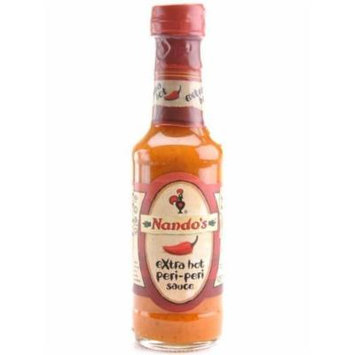 Nando's Extra Hot Peri Peri Sauce, 4.7-Ounce Bottles (Pack of 6)
