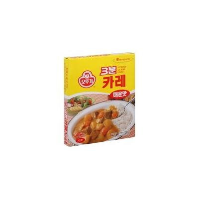 Ottogi's 3 Minutes Instant Meal Box of 8 Combos (Curry, Black Bean Sauce, Hashed Brown Sauce, Spicy Sauce with Kimchi & Tuna, and Spicy Sauce with Octopus) (Curry Spicy (PACK OF 8))