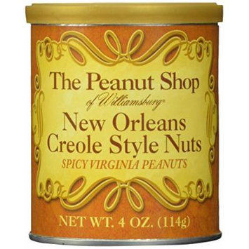 The Peanut Shop of Williamsburg New Orleans Style Spicy Peanuts, 4-Ounce Packages (Pack of 16)