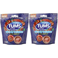 Tums Chewy Delights Soft Chews, Very Cherry, 32 Count (Pack of 2)