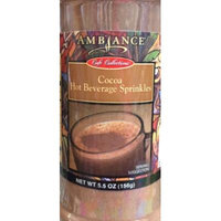 5.5oz Ambiance Coffee Collections Hot Beverage Sprinkles, Cocoa, Pack of 1