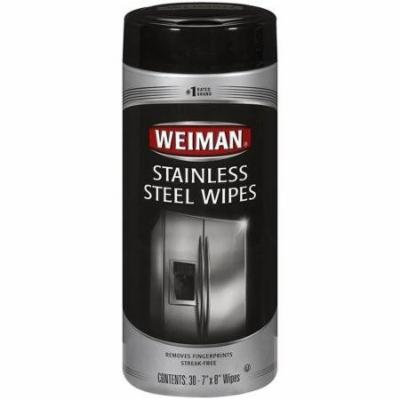 Weiman Stainless Steel Wipes 30 Wipes(pack of 5)