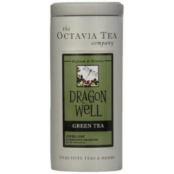 Octavia Tea Dragon Well (Green Tea), 1.46-Ounce Tin