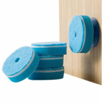 Sealike Double Sided Cleaner Scouring Sponge Pad with Suction Cup Set of 5 with Stylus(Blue)