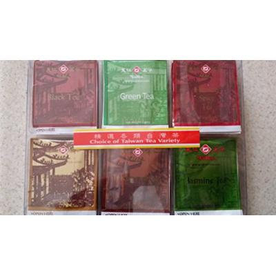 TenRen Assorted Taiwan Tea Bag Variety Pack (Black Tea, Green Tea, Hibiscus Spice Tea, PouChong Tea, Oolong Tea, Jasmine Tea)(30 tea bags)
