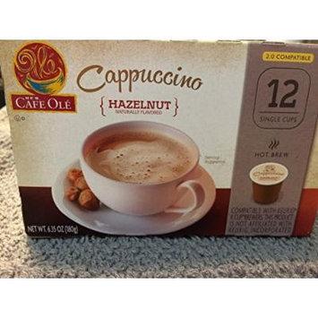H.E.B. Cafe Ole Cappuccino HAZELNUT Flavored 12 single cups
