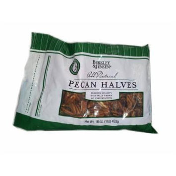 Berkley and Jensen All Natural Pecan Halves in Resealable 1 lb. Bag