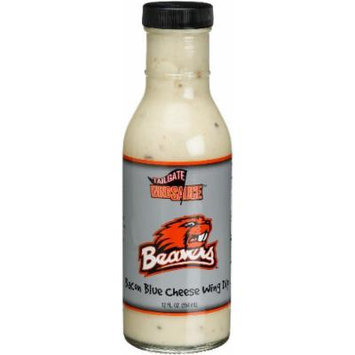 Tailgate Oregon State University Bacon Blue Cheese Wing Dip, 12-Ounce Glass Bottles (Pack of 6)