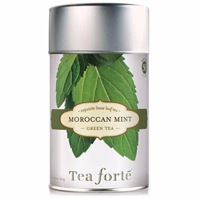 Tea Forte MOROCCAN MINT Loose Leaf Green Tea, 4.23 Ounce Tea Tin