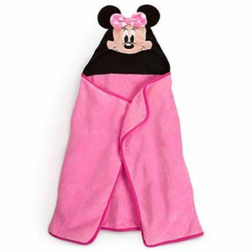 Disney Minnie Mouse Pink Hooded Towel for Baby Toddler Girls