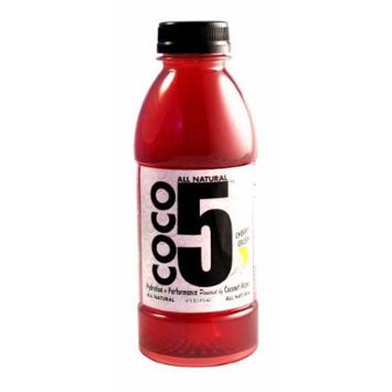 Coco5 All Natural Coconut Water, Cherry Crush, 16 fl. oz. ,12 Count