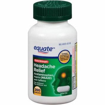 Equate Extra Strength Headache Relief Caplets, 200ct, Compare to Excedrin Extra Strength Caplets