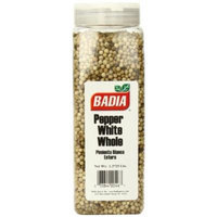 Badia White Pepper Whole, 1.3725 Pound