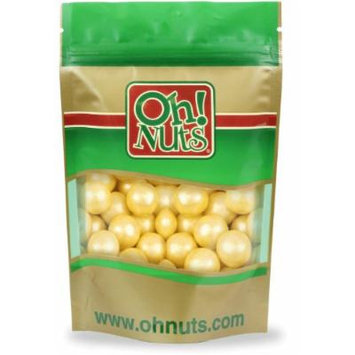 Shimmer Yellow Pearl 1 Inch Gumballs 2 Pound Bag - Oh! Nuts