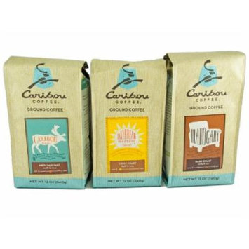 Caribou Coffee Ground 12 Oz Assorted Sampler (Pack of 3)