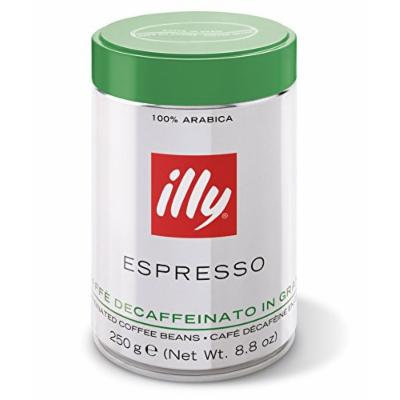 Illy decaffeinated coffee beans. 8.8oz can.