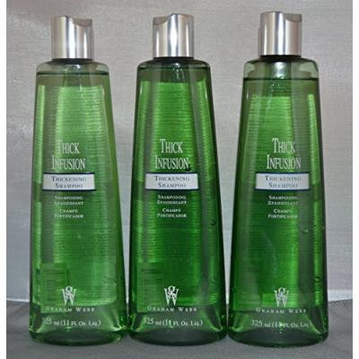 Graham Webb Thick Infusion Thickening Shampoo 11 oz (3 pack)