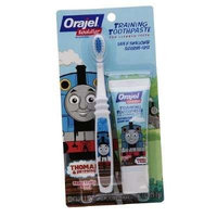 Orajel Toddler Thomas Toddler Training Toothpaste with Toothbrush, Tooty Fruity 1 oz (28.3 g)