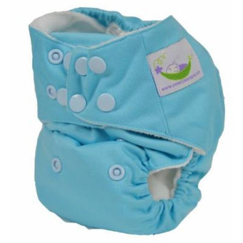 Sweet Pea One Size Pocket Diaper with Microfiber Inserts (Indigo Blue)