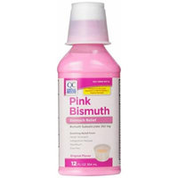 Quality Choice Regular Strength Pink Bismuth Liquid 12 Fluid Ounces (355ml) , Plastic Bottle (Pack of 6)